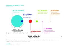 UNICEF Annual Report 2014 Tables / Charts - French Editable Vector PDF