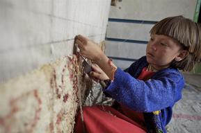 Young Carpet Makers - Bamyan Province - Afghanistan - 2007