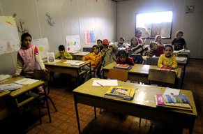 Roma children in classroom