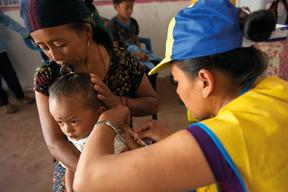 The Government of Nepal, together with UNICEF and WHO launched an emergency measles and rubella vaccination campaign