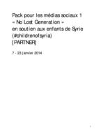 No Lost Generation – PARTNER SMpack1 02012014 FR