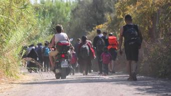 12937 Greece LESVOS PEOPLE ON THE ROAD SELECT BROLL 2 HD PAL