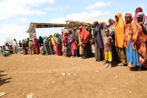 Emergency  measles vaccination campaign in Baidoa, Somalia - 2017