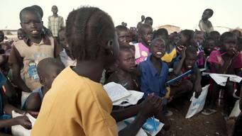 B-roll compilation: Children out of school due to conflict
