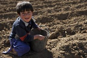 Traditional child labour for school going children - Bamyan - Afghanistan - 2009