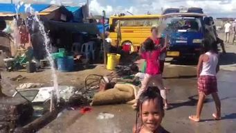 Tacloban progress video for instagram: clean water brings health and play to children in Tacloban