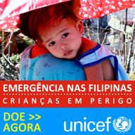 Typhoon Haiyan - Donate now button 200x200 JPG - Portuguese