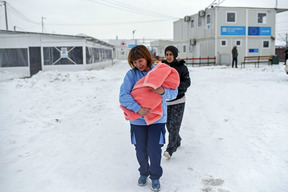 Winter conditions affect migrants and refugees in the former Yugoslav Republic of Macedonia - 2017